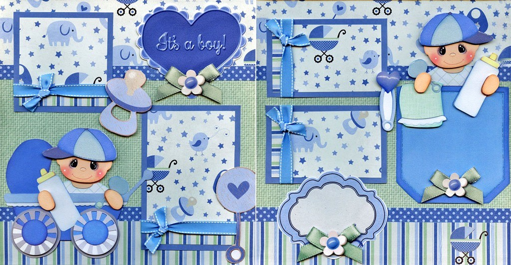 It's A Boy Banner Printable Inspirational It S A Boy Baby 2 Premade Scrapbook Pages Paper Piecing
