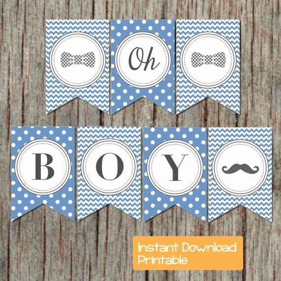 It's A Boy Banner Printable Lovely Baby Shower Banner Boy Oh Boy Printable Little Man Party Ocean