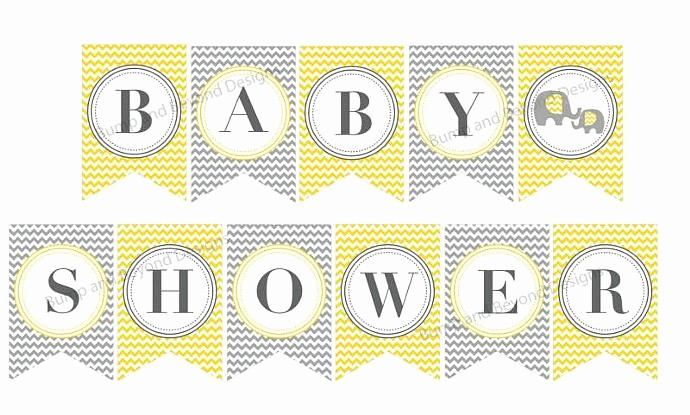 It's A Boy Banner Printable Lovely Baby Shower Banner Yellow Grey