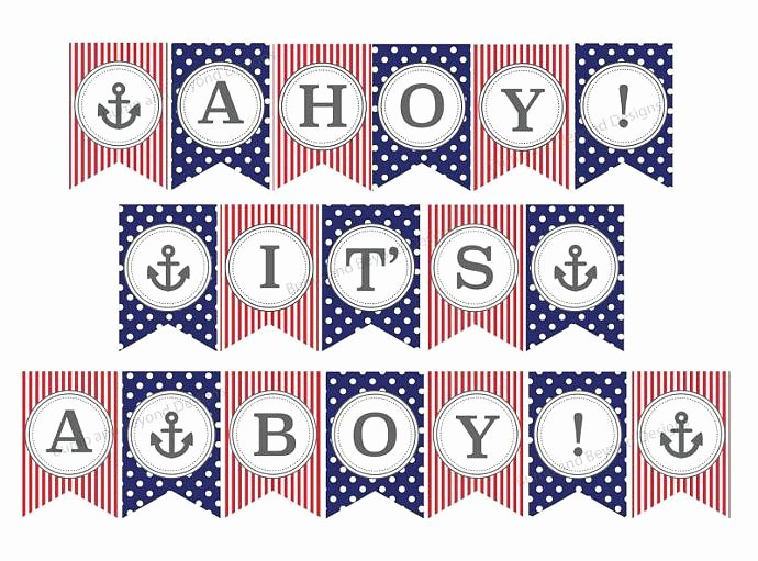 It's A Boy Banner Printable New Nautical Anchor Baby Shower Banner