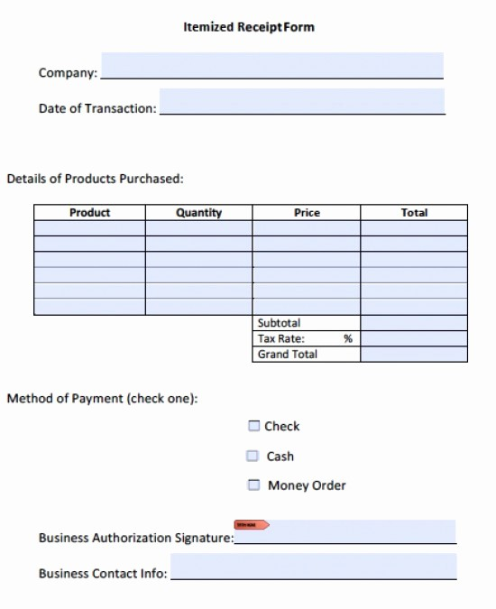 Itemized Bill Template Microsoft Word Elegant Itemized Invoice Template