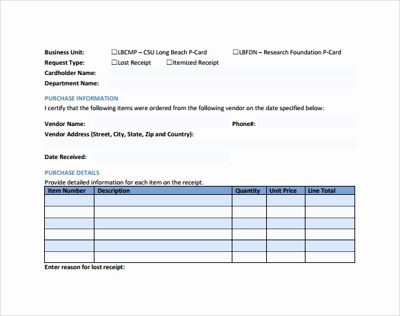 Itemized Bill Template Microsoft Word Luxury 10 Sample Itemized Receipt Templates to Download