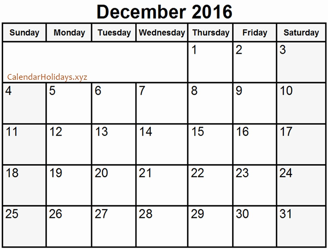 printable december 2016 word calendar template
