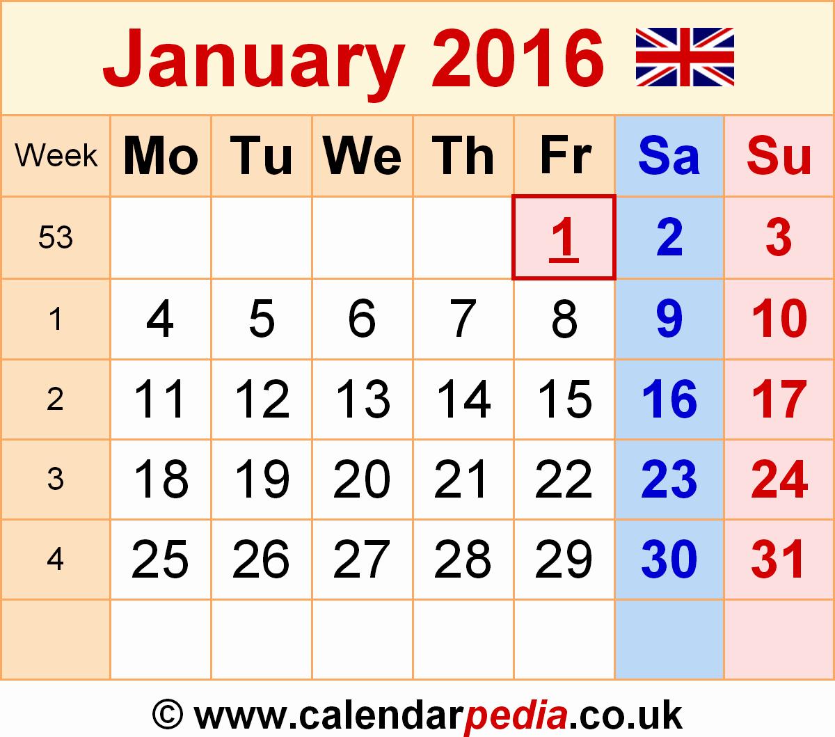 January 2016 Calendar Template Word Beautiful Calendar January 2016 Uk Bank Holidays Excel Pdf Word