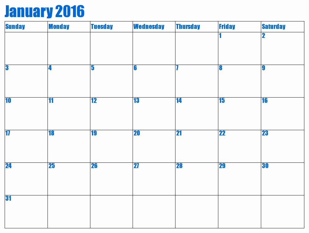 January 2016 Calendar Template Word Elegant Template Word Calendar 2016