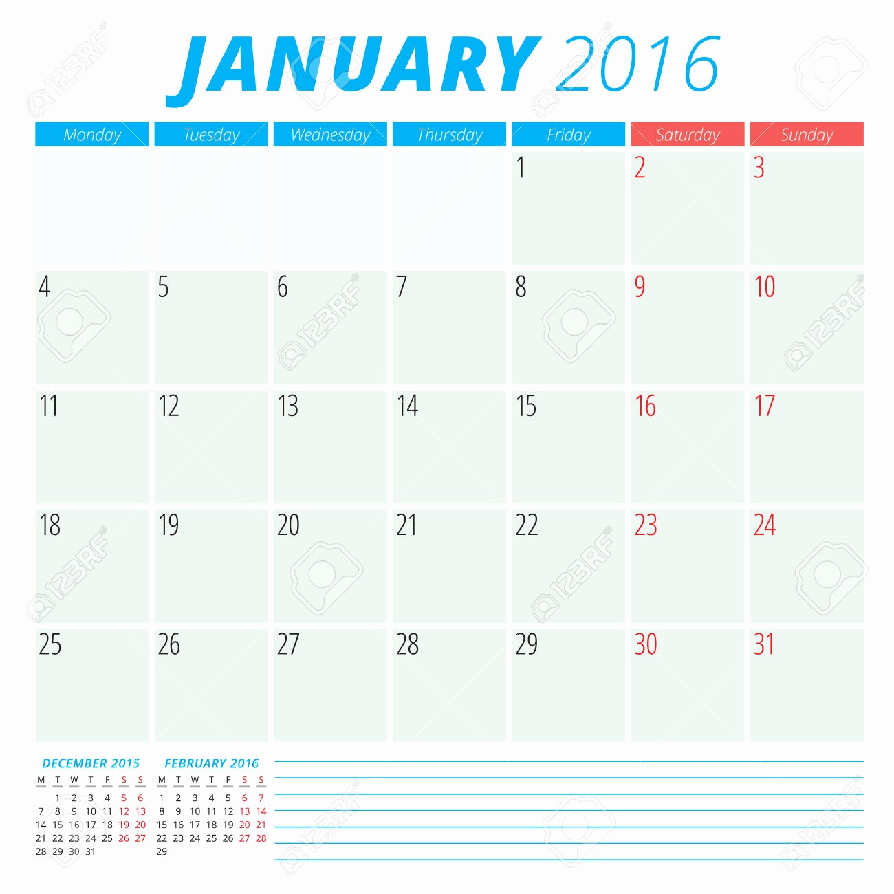 January 2016 Calendar Template Word Fresh January 2016 Calendar Printable Template – 2017 Printable