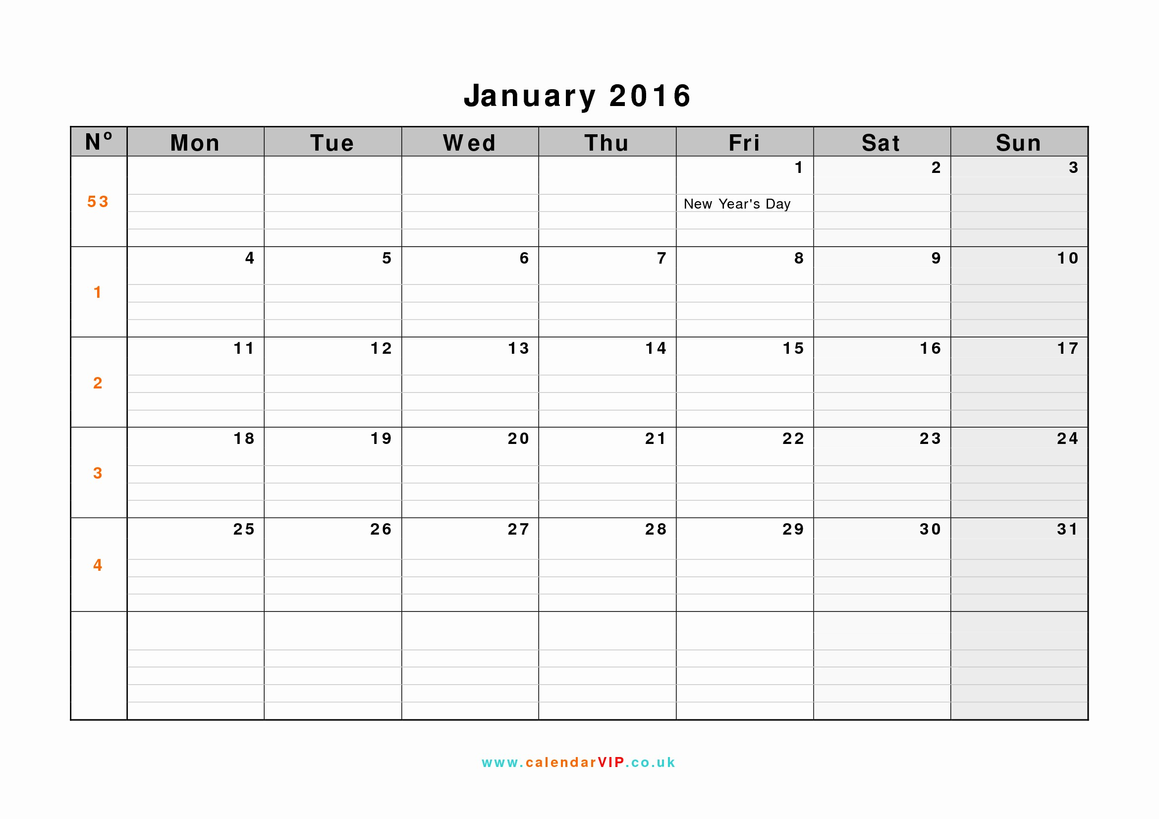 January 2016 Calendar Template Word Inspirational January 2016 Calendar Free Monthly Calendar Templates for Uk