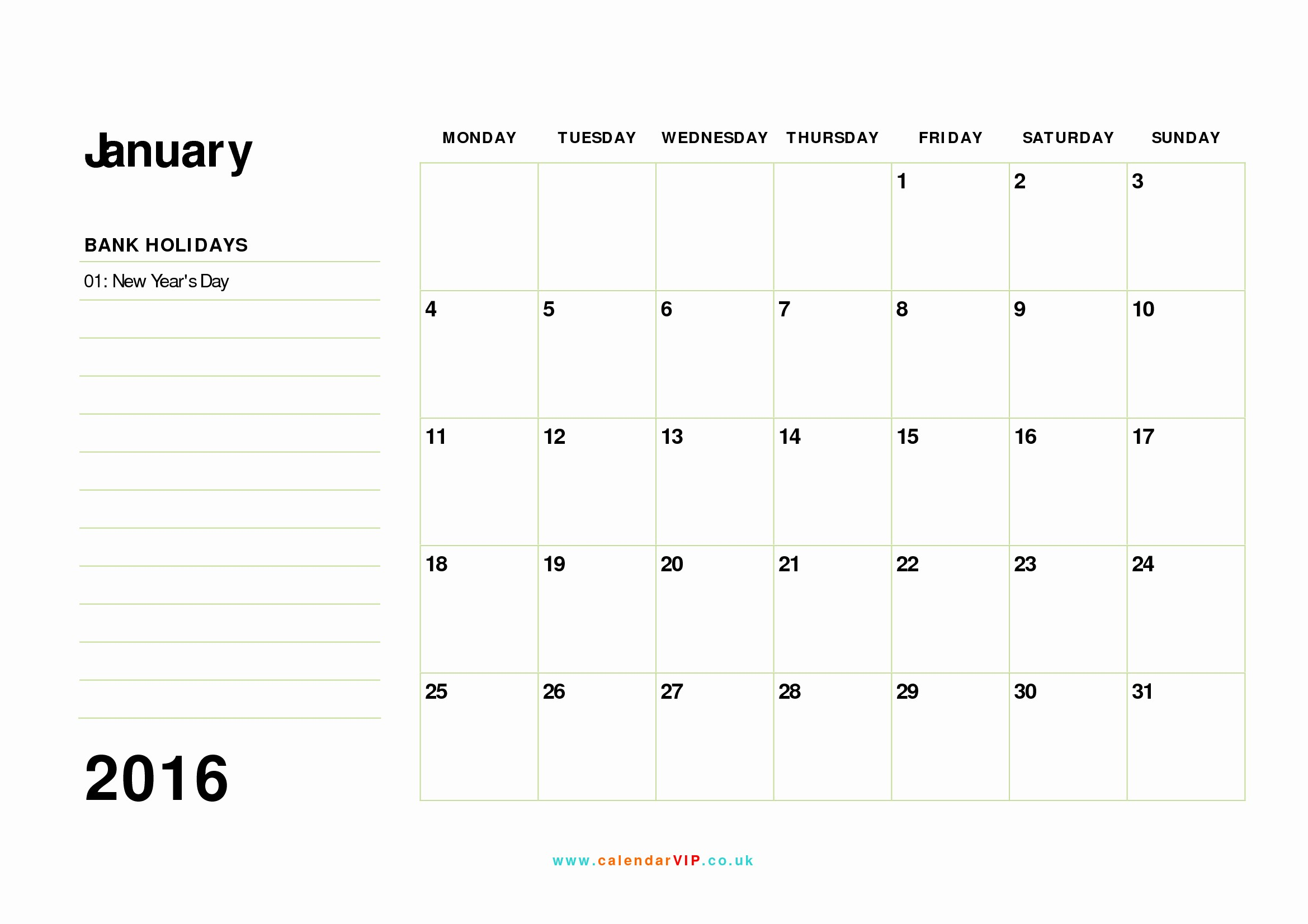 January 2016 Calendar Template Word Inspirational January 2016 Calendar Free Monthly Calendar Templates