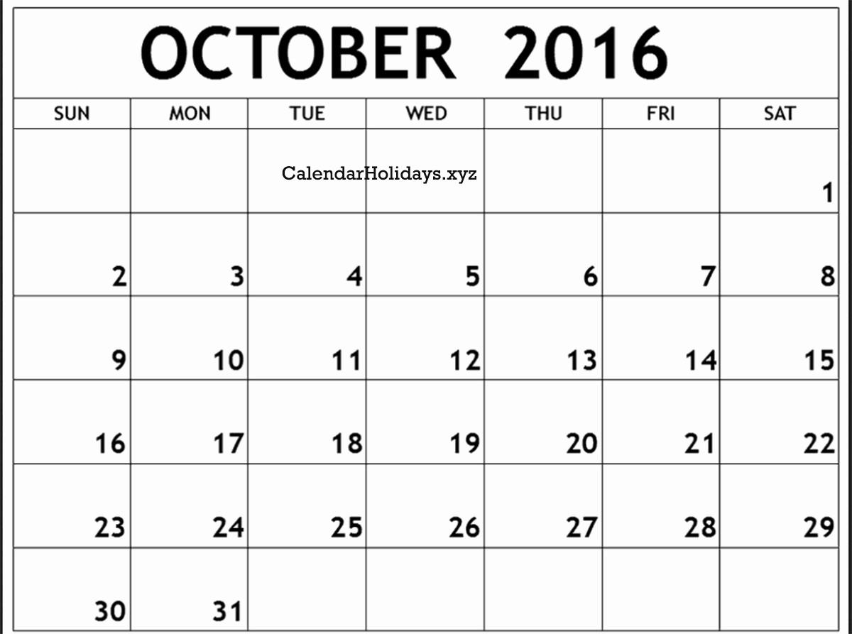 "January 2016 Calendar Template Word Inspirational ""october 2016 Calendar Word Template"""