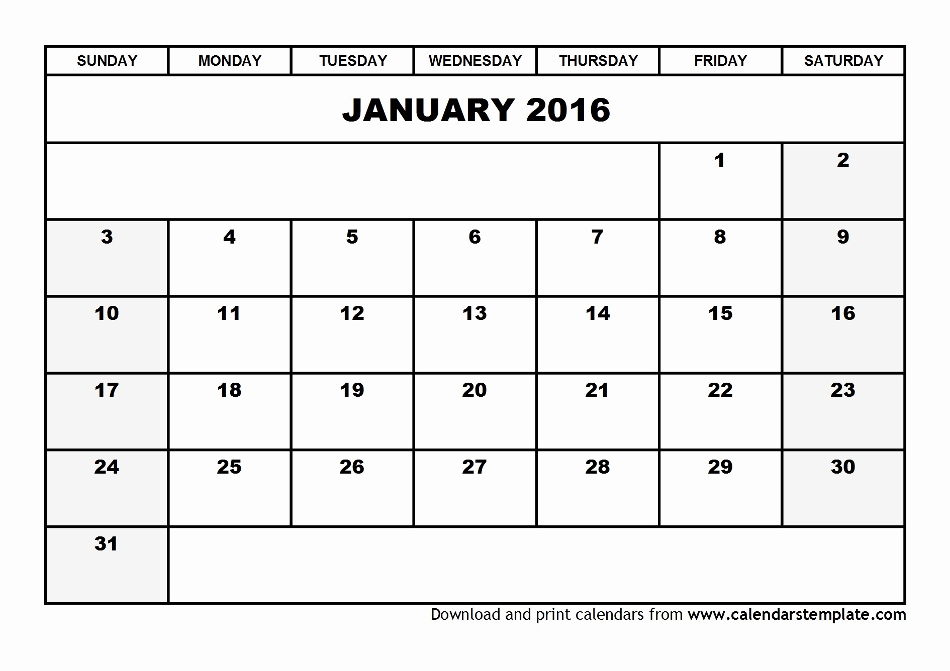 January 2016 Calendar Template Word Lovely 19 2016 Calendar Template January 2016 Printable