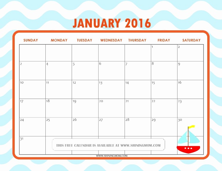 January 2016 Calendar Template Word Lovely All Lovely Free Printable January 2016 Calendars