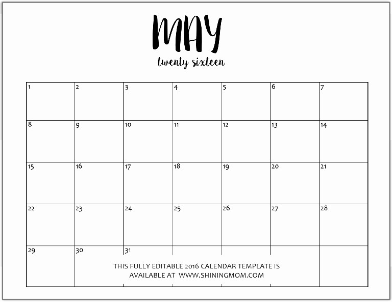 January 2016 Calendar Template Word Lovely Best S Of 2016 Calendar Template Microsoft Word