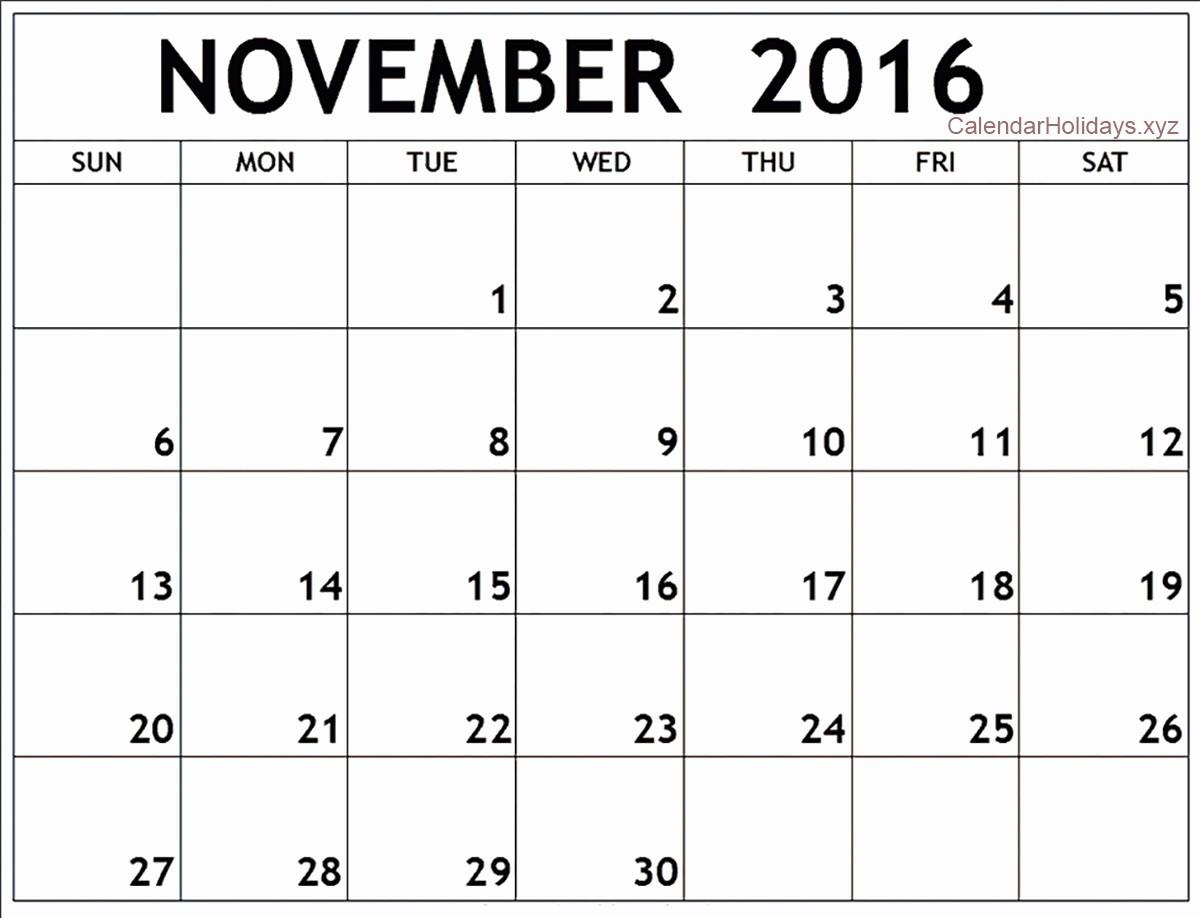 January 2016 Calendar Template Word Lovely November 2016 Word Calendar Wordcalendar Calendartemplates