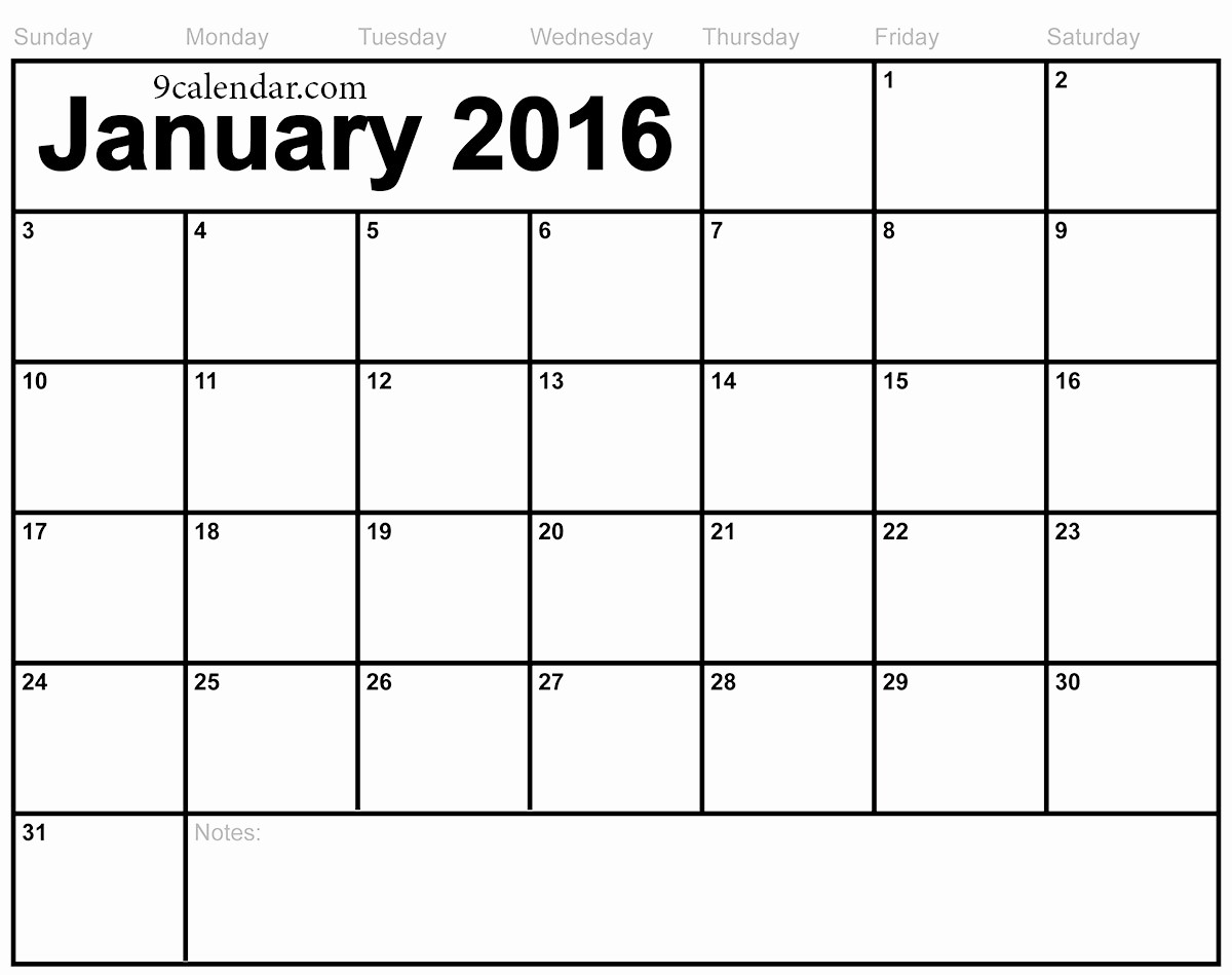 January 2016 Calendar Template Word Luxury January 2016 Calendar Page – 2017 Printable Calendar