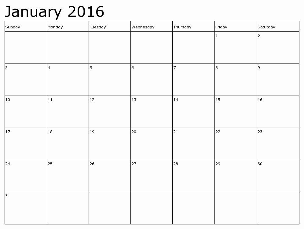 January 2016 Calendar Template Word Luxury Word Printable Calendar 2016 – Calendar Template 2018