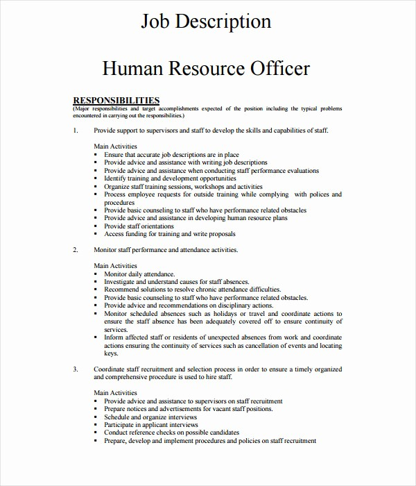 Job Description Templates Free Download Fresh 21 Job Description Templates Free Word Pdf Documents