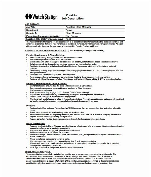 Job Description Templates Free Download Lovely 21 Job Description Templates Free Word Pdf Documents