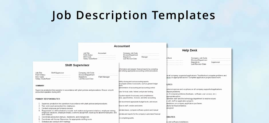 Job Description Templates Free Download Luxury Generic Job Description Template Beautiful Template