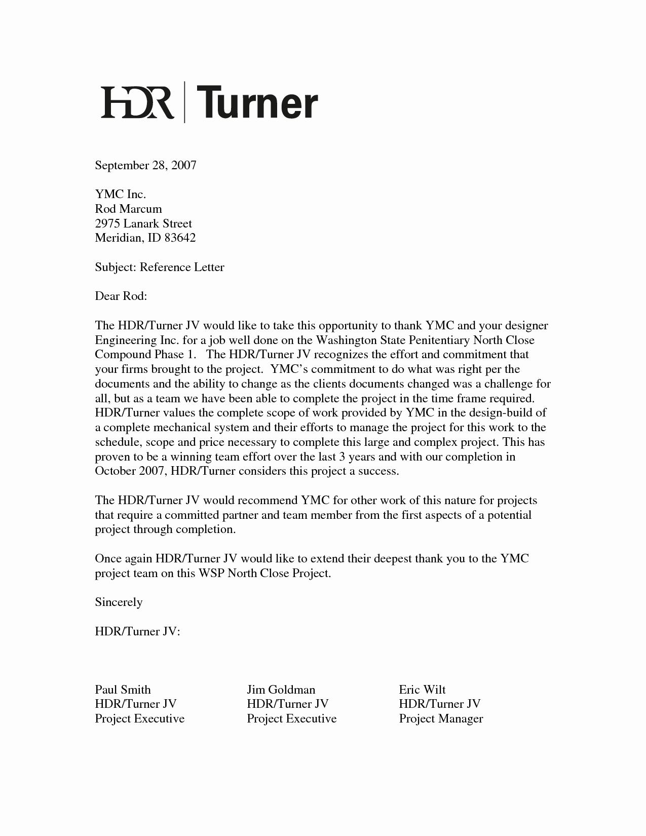 Job Recommendation Letter Sample Template New A Job Reference Letter