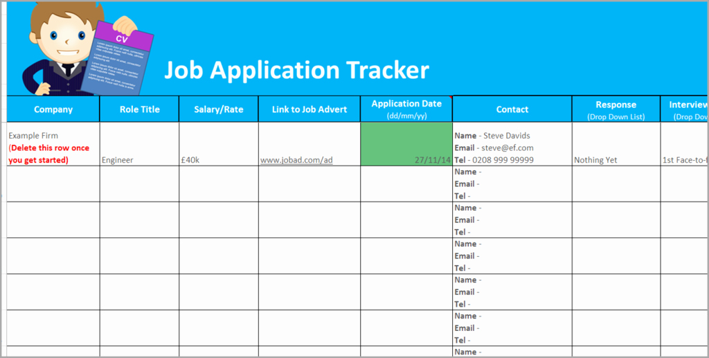 Job Search Log Template Excel Awesome Job Application Tracker Spreadsheet
