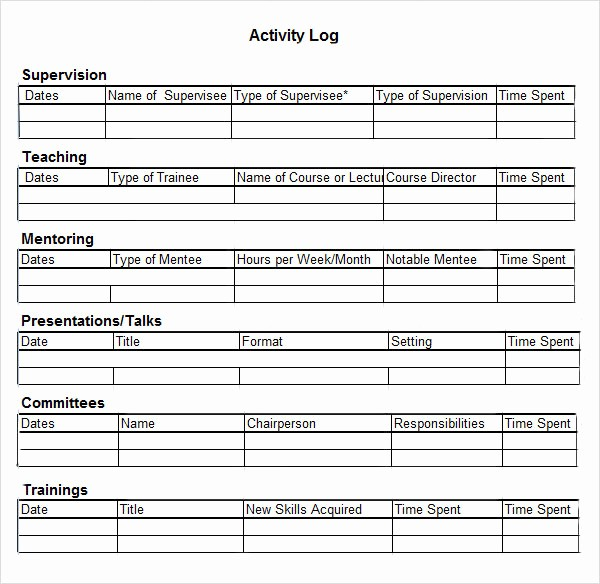 Job Search Log Template Excel Best Of 6 Activity Log Samples