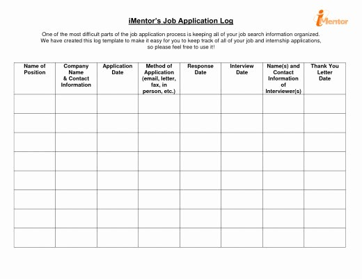 Job Search Log Template Excel Lovely How to Keep A Good Record Of Your Job Search Activities
