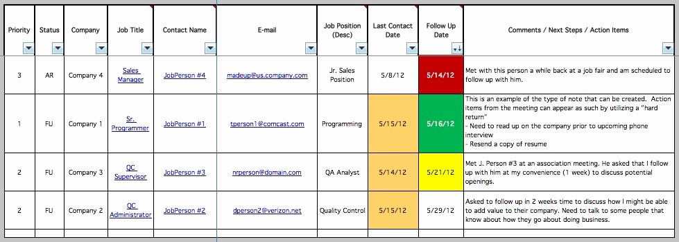 Job Search Log Template Excel New organize Your Job Searching Using W5t