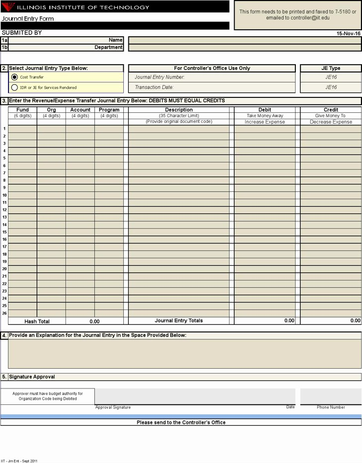 Journal Entry Template for Excel Beautiful 6 5 Excel Journal Templates Free Download