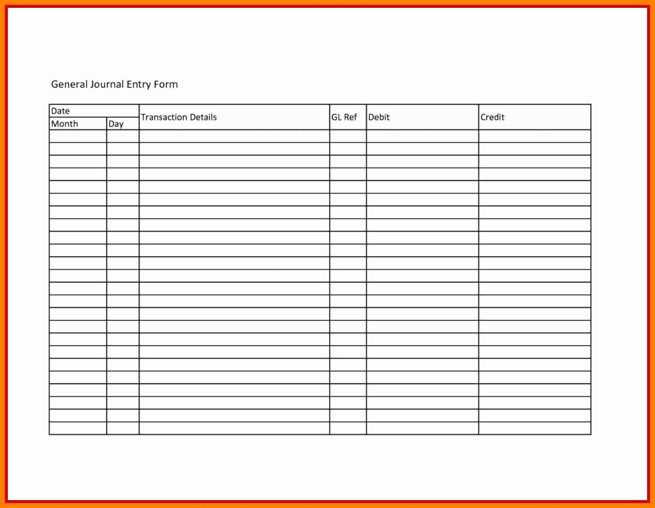 Journal Entry Template for Excel Beautiful Accounting Journal Template Template Design Ideas