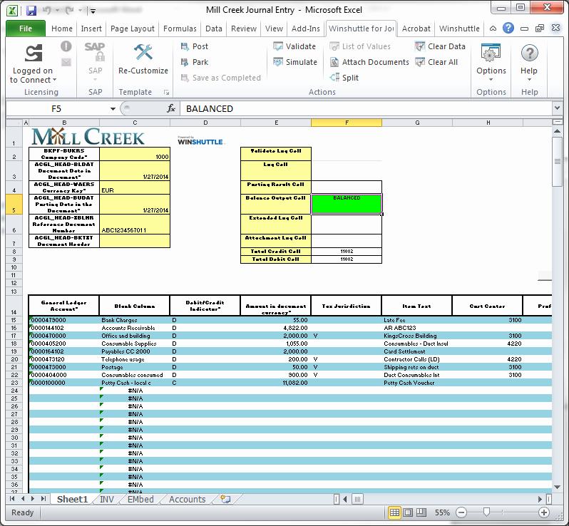 Journal Entry Template for Excel Elegant Improving Sap Journal Entry Processes