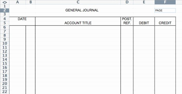 Journal Entry Template for Excel Fresh Accounting Journal Template Spreadsheet Templates for