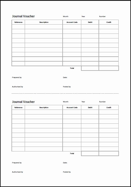 Journal Entry Template for Excel Fresh Journal Voucher Template Double Entry Bookkeeping