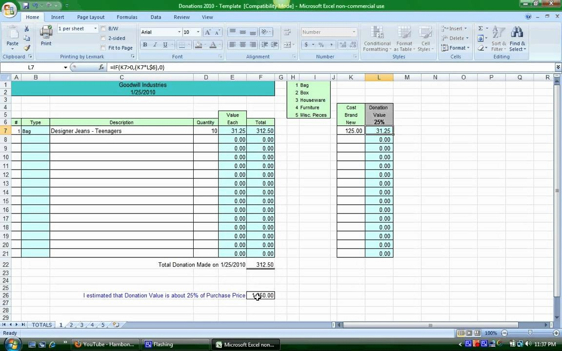 Keep Track Of Charitable Donations Beautiful Donation Spreadsheet Instructions