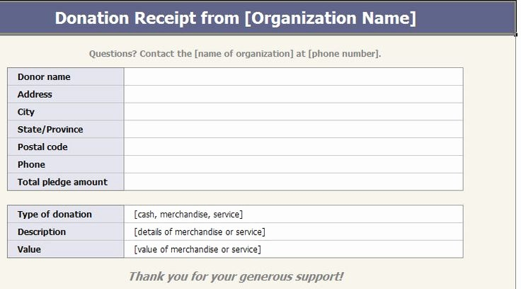 Keep Track Of Charitable Donations Beautiful You Can Use A Charitable Donation Receipt Template to Keep