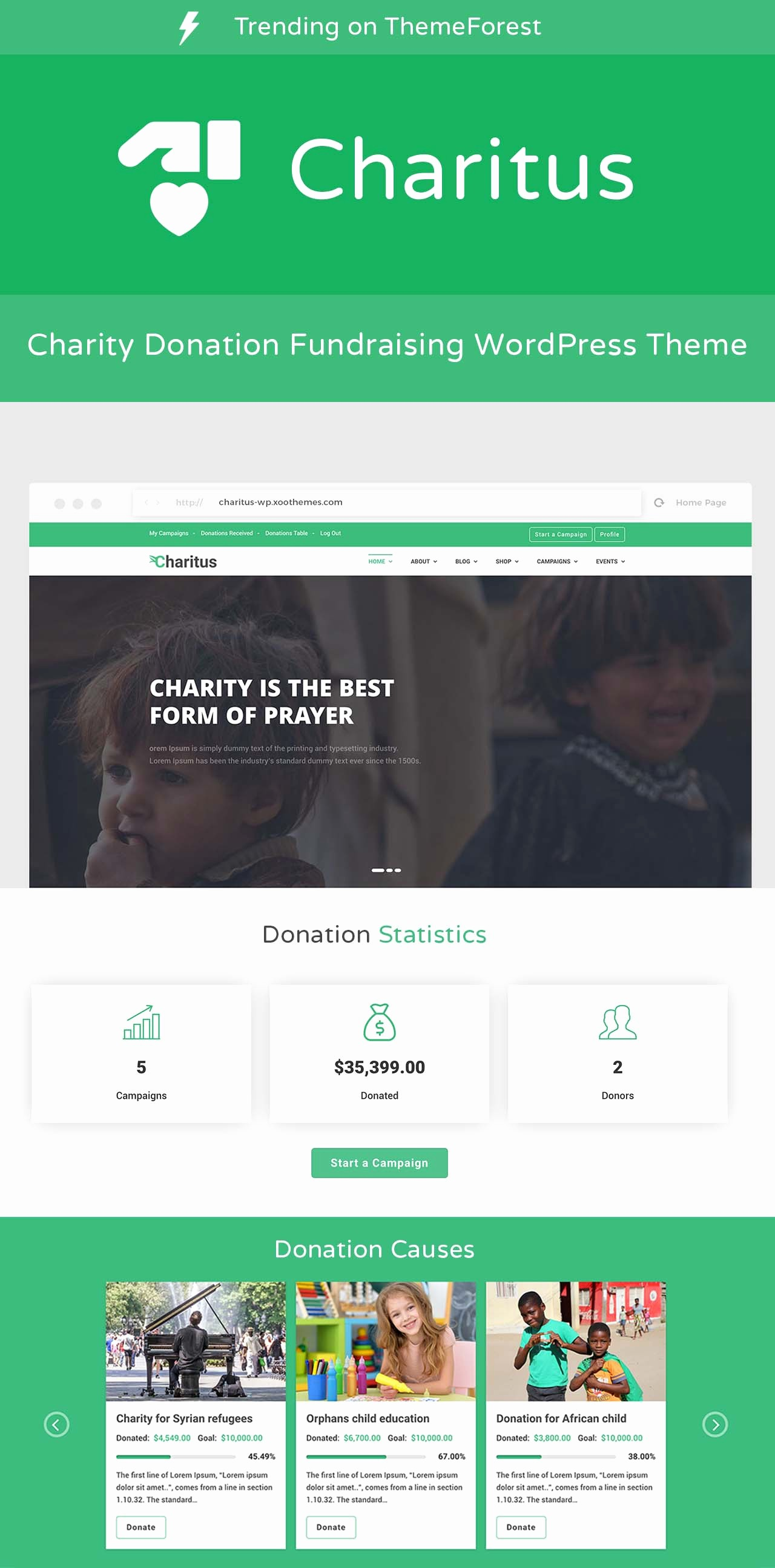 Keep Track Of Charitable Donations Lovely Charitus Charity Wordpress theme with Donation System by
