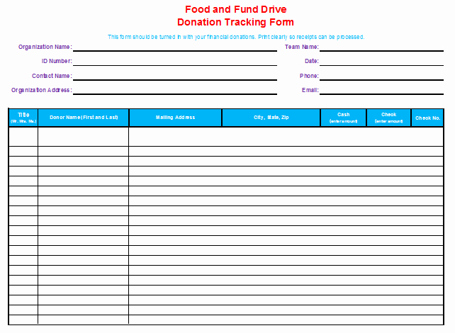 Keep Track Of Charitable Donations New Donation Tracking Template Bud Templates