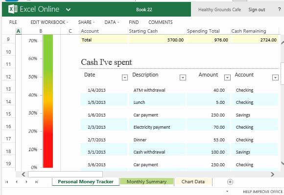 Keep Track Of Finances Excel Fresh Personal Money Spending Tracker Template for Excel Line