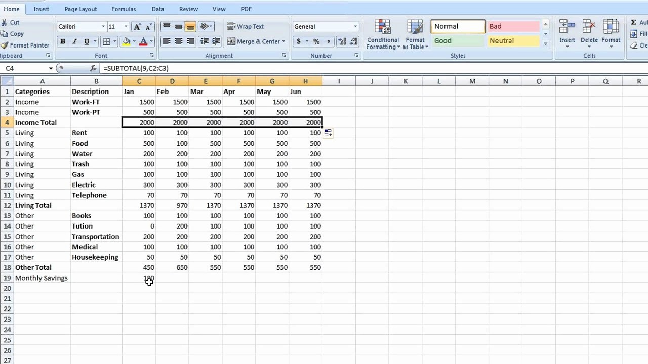 Keep Track Of Finances Excel Inspirational How to Set Up A totaling Spreadsheet In Excel Tips for