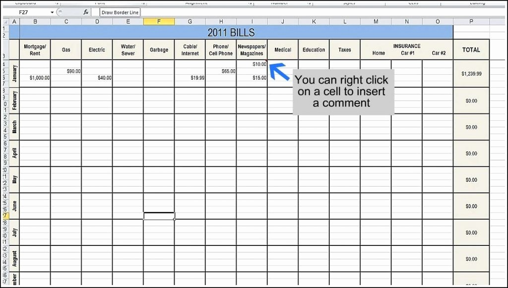 Keep Track Of Finances Excel Lovely Bill Tracker Spreadsheet Printable Payment Weekly Monthly