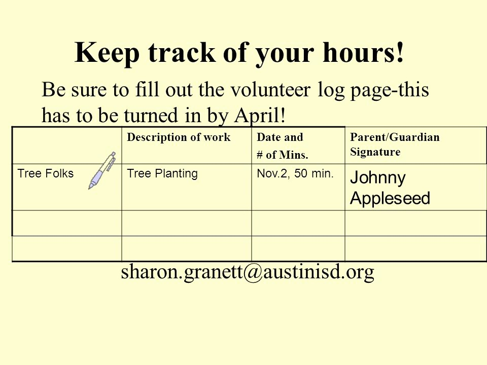 Keeping Track Of Hours Worked Elegant Wel E National Junior Honor society Members Ppt