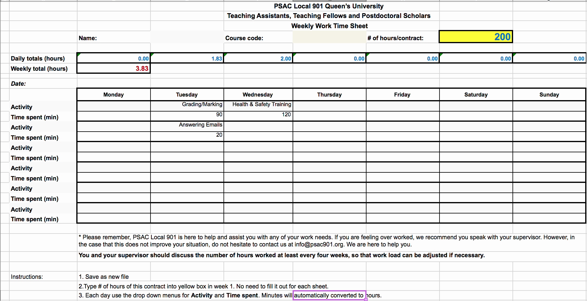 Keeping Track Of Hours Worked Lovely Contract Work Hour Tracker Time Sheet