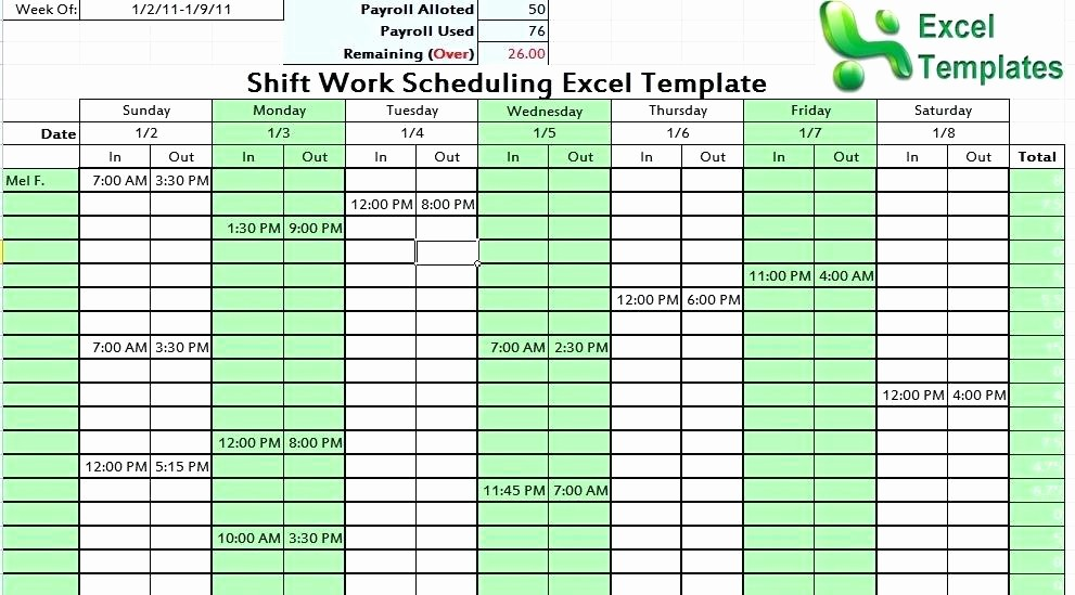 Keeping Track Of Hours Worked New Employee Shift Schedule Excel Template Download Contract