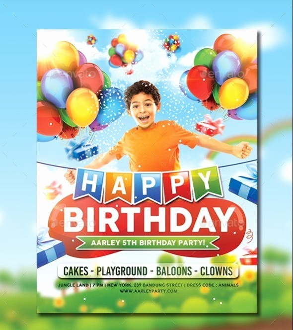 Kids Birthday Party Invite Templates Awesome 32 Best Birthday Invitation Templates Psd Download