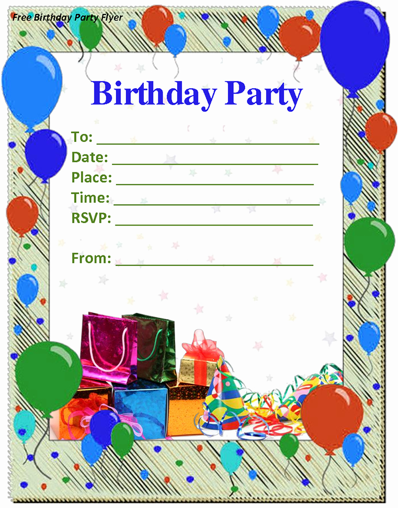 Kids Birthday Party Invite Templates Awesome 9 Birthday Party Invitation Templates Free Word Designs