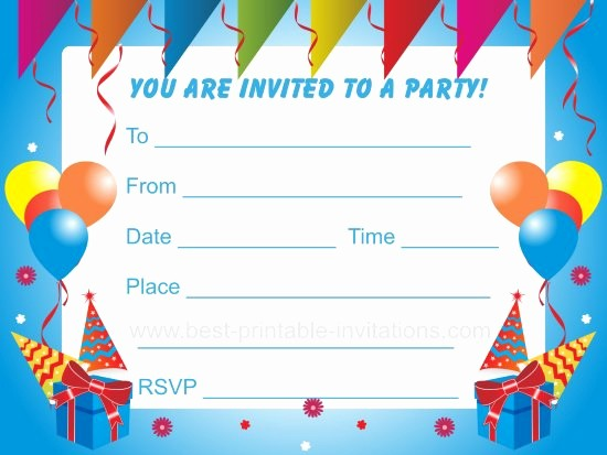 Kids Birthday Party Invite Templates Awesome Birthday Party Invitations for Kids