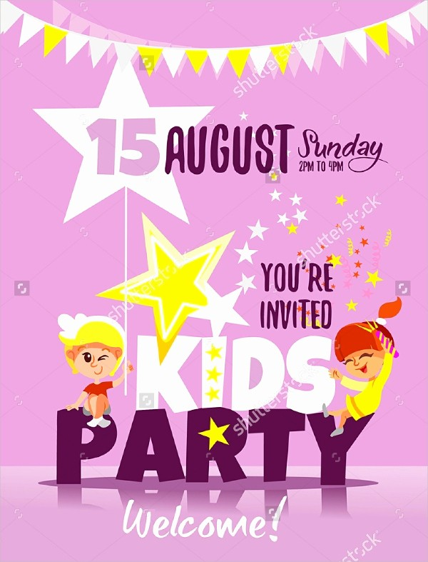 Kids Birthday Party Invite Templates Best Of 17 Kids Party Invitation Designs & Templates Psd Ai