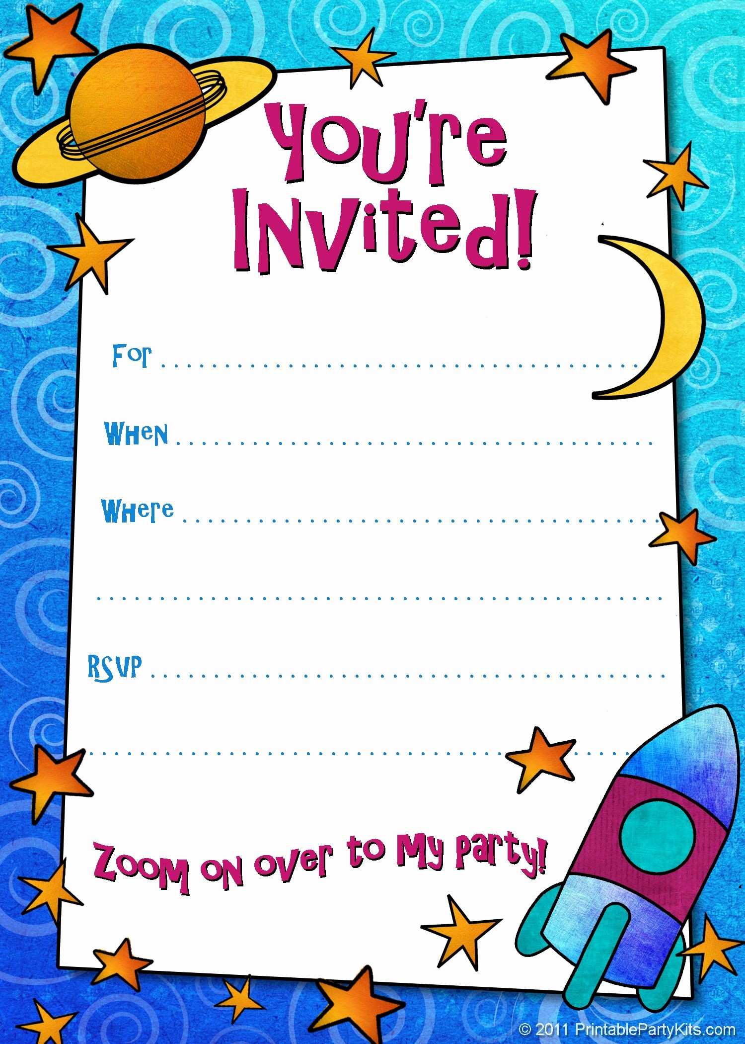 Kids Birthday Party Invite Templates Elegant Free Printable Boys Birthday Party Invitations
