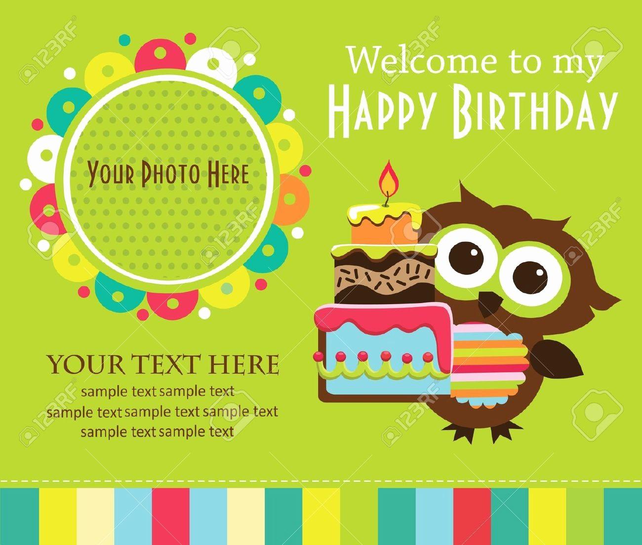 Kids Birthday Party Invite Templates Fresh Birthday Invitation Card Template for Kids