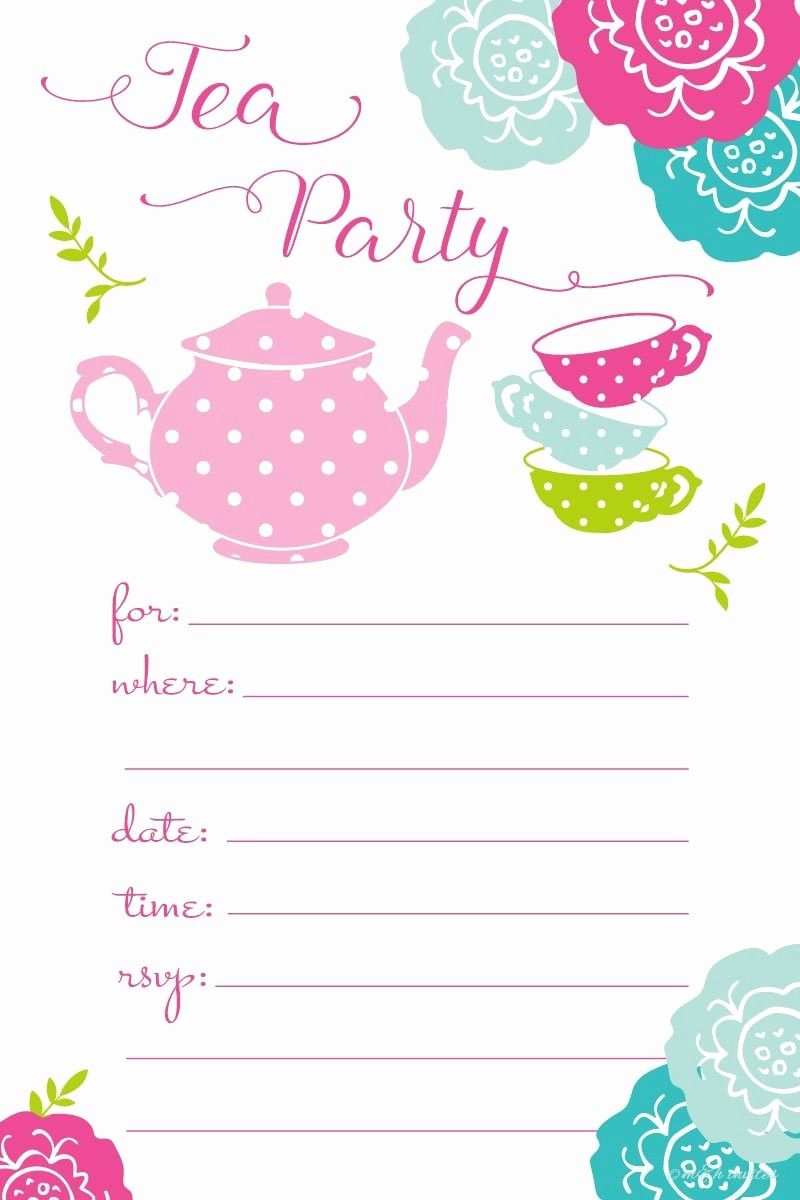 Kids Birthday Party Invite Templates Inspirational Everything You Need for A Super Cute Kids' Tea Party Tea