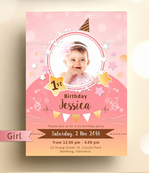 Kids Birthday Party Invite Templates Lovely 33 Kids Birthday Invitation Templates Psd Vector Eps